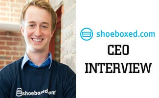 Shoeboxed CEO interview logo