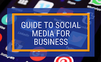 Social media icons (caption: Guide to Social Media For Business)