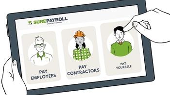 SurePayroll illustration on iPad