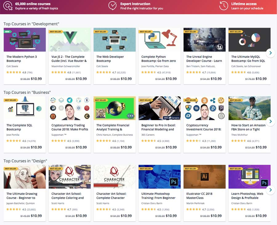Best online learning site treehouse vs lynda vs udemy vs pluralsight udemy screenshot fandeluxe Images
