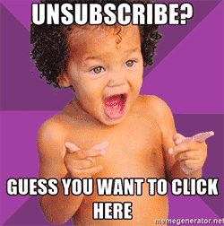 Example of obvious unsubscribe message