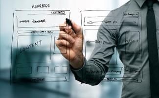 Guy designing website