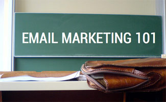 Email Marketing 101 on chalkboard