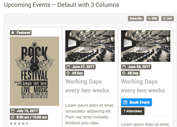 WordPress Pro Event Calendar screenshot