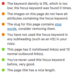 Yoast SEO Plugin for WordPress: Analysis of Post