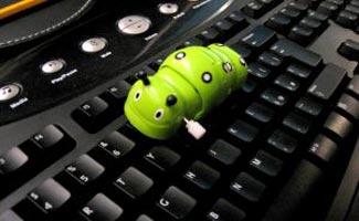 Worm on keyboard