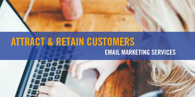 Woman typing on keyboard: Best Email Marketing