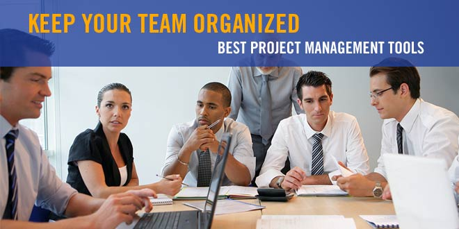 Team working at conference table: Best Project Manager