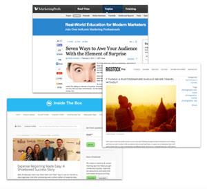 WeRockYourWeb Press screen grabs