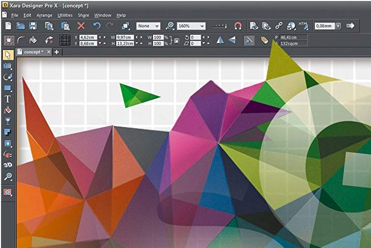 Xara Design Pro screenshot